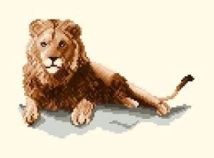 Lion diagramme couleur