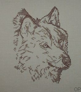 Loup monochrome diagramme couleur