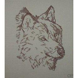 Loup monochrome diagramme noir et blanc