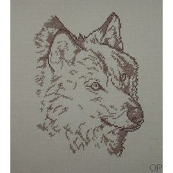 Loup monochrome diagramme noir et blanc .pdf