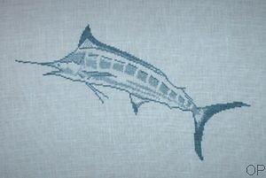 Marlin bleu diagramme noir et blanc