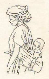 Maternité diagramme noir et blanc