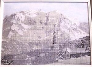 Mont-Blanc II diagramme noir et blanc