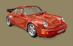 Porsche 964 3.6 l turbo diagramme couleur
