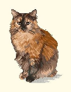 Portrait de chat II diagramme noir et blanc
