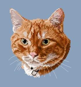 Portrait de chat IV diagramme noir et blanc