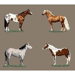 Races de chevaux américaines diagramme noir et blanc