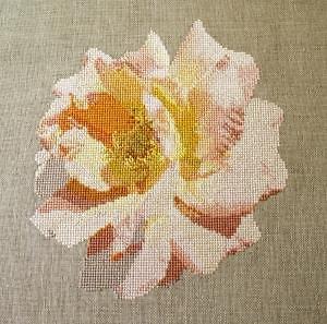 """Rose """"Amour"""" diagramme noir et blanc"""