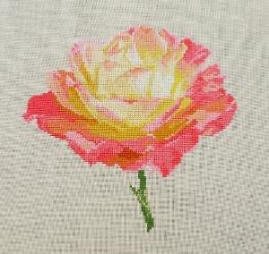 """Rose """"Chamade"""" diagramme noir et blanc"""