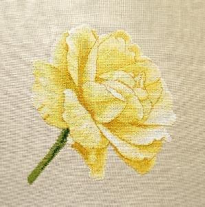 """Rose """"Douceur"""" diagramme noir et blanc"""