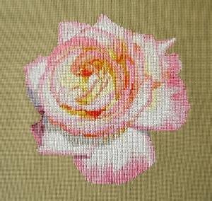 """Rose """"Ivresse"""" diagramme noir et blanc"""