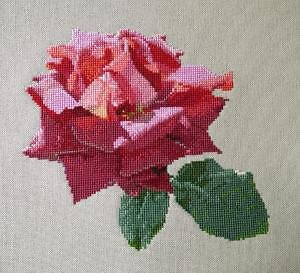 """Rose """"Soupir"""" diagramme noir et blanc"""