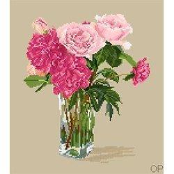 Roses et pivoines diagramme couleur