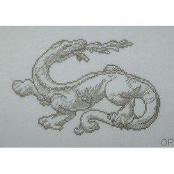 Salamandre diagramme noir et blanc