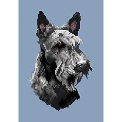 Scottish terrier II diagramme noir et blanc