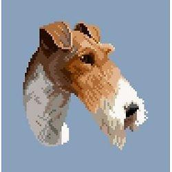 Tête de fox-terrier à poil dur diagramme couleur