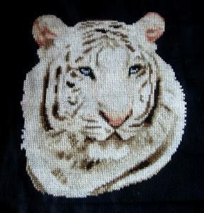 Tigre blanc diagramme noir et blanc