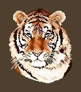 Tigre diagramme noir et blanc