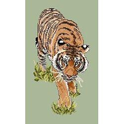 Tigre entier diagramme noir et blanc