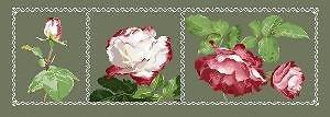 Triptyque aux roses diagramme noir et blanc