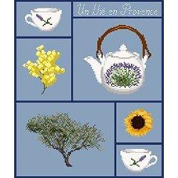 Un thé en Provence diagramme noir et blanc