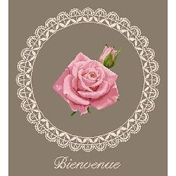 """""""Bienvenue"""" à la rose diagramme noir et blanc .pdf"""