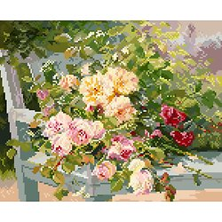 """""""Roses sur le banc"""" de Cauchois diagramme noir et blanc .pdf"""