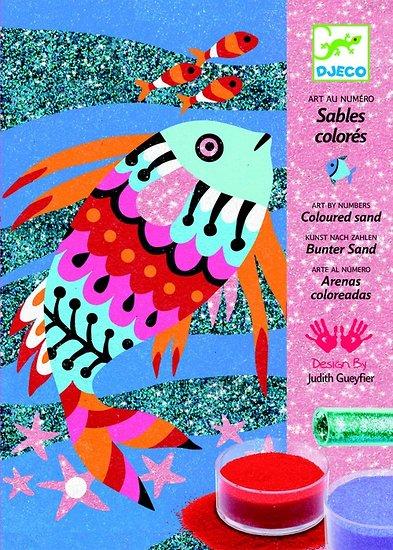 Sables colorés Djeco 6-11 ans Arcs en Ciel de Poisson