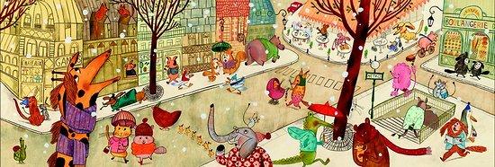 Puzzle Gallery Djeco Paris 100 pièces +5