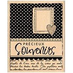 """Tampon bois """" Carte souvenirs"""""""