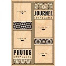 Tampon Bois Quatre photos