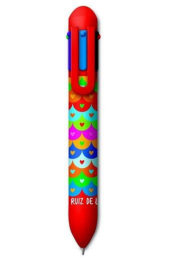 Stylo bille rétracatble 6 couleurs Agatah Ruiz de la Prada