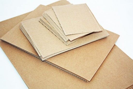 Papier cartonné ondulé brun 170 gr