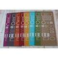 Etiquettes Scrapbooking sérigraphiées sur papier recyclé 325gr