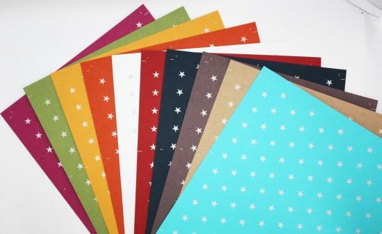 """Papier Scrapbooking (25.5x41cm) """"Etoiles"""""""
