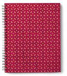 Carnet à spirale bordeau-rouge-or