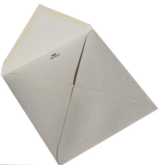 Enveloppe carrée 15x15cm Fibrées 120gr Crème et Chantilly