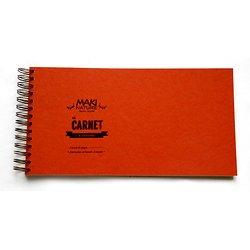 Carnet Paysage 18x34cm 28p 175gr blanc
