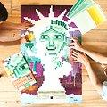 Poster Pixel Art Statue de la Liberté
