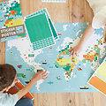 Poster Pixel Art La Carte du Monde