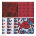 Décopad rouge 48 feuilles imprimées 15x15cm