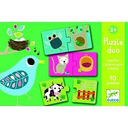 Puzzle Duo Habitat Djeco 2+
