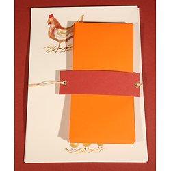 Papier à Lettre Poule avec enveloppes en papier recyclé