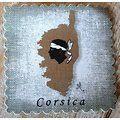 Carré de lin 9x9cm Corsica