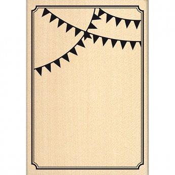 Tampon Fanion carte festive