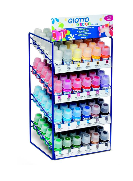 Pot Peinture Acrylique multi usages 24 couleurs 25ml