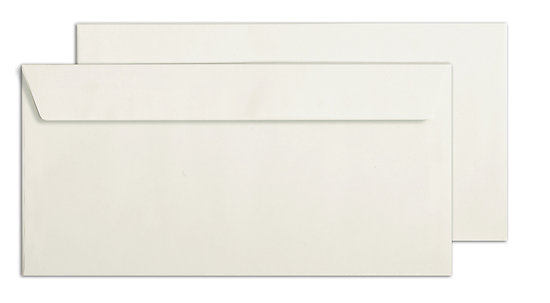 Enveloppe rectangulaire C6 et DL en papier recyclé