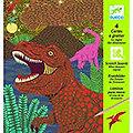 Cartes à gratter Le royaume des dinosaures - Djeco 6 -10 ans