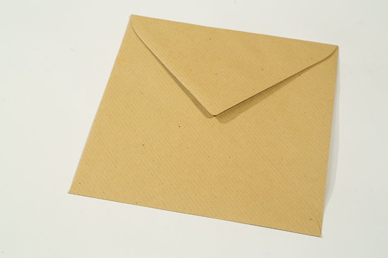 "Enveloppe recyclée carrée ""Kraft"" 15x15cm"