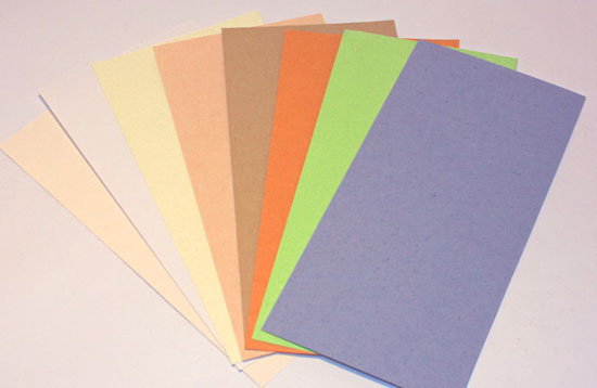 Carte DL 10.5x21cm en papier recyclé 175gr